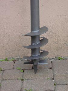 Brunnenbohrer Erdbohrer mit beweglicher Wendel
