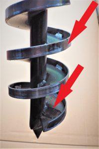 Brunnenbohrer mit Abkantung und Ablaufsperre